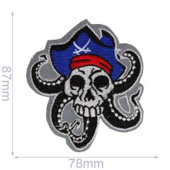 Iron-on patches Skull with tentacles - 5pcs