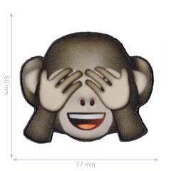 HKM Iron-on patch emoji monkey - 5pcs