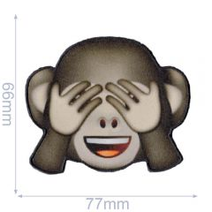 HKM Iron-on patch emoji monkey - 5pcs