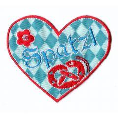 Iron-on patches heart Spatzl - 5pcs