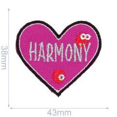 Iron-on patches heart HARMONY - 5pcs