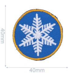 HKM Iron-on patch snowflake circle - 5pcs