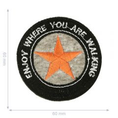 HKM Iron-on patch enjoy where you are walking - 5pcs