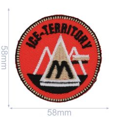 HKM Iron-on patch mountains - 5pcs