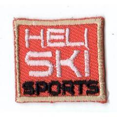 HKM Iron-on patch heli ski sports square - 5pcs