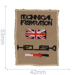 HKM Iron-on patch heli ski - 5pcs