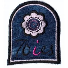 Iron-on patches arms dark jeans 70ies - 5pcs