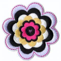 Iron-on patches flower - 5pcs