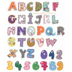 HKM Iron-on letters A-Z - 5pcs