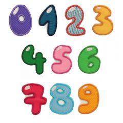 HKM Iron-on numbers 0-9 - 5pcs