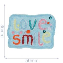 Iron-on patches Love Smile - 5 pcs