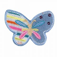 Iron-on patches Butterfly on jeans - 5pcs