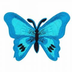 Iron-on patches Butterfly blue - 5pcs