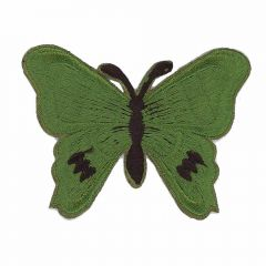 Iron-on patches Butterfly dark green - 5pcs