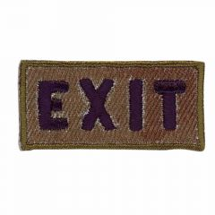 Iron-on patches Exit - 5pcs