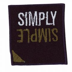 Iron-on patches SIMPLY SIMPLE - 5pcs