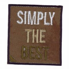 Iron-on patches Simply the Best - 5 pcs