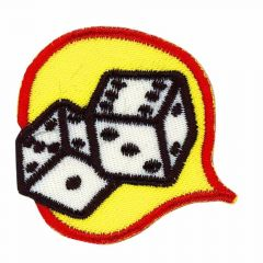 Iron-on patches Dice - 5pcs