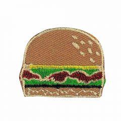 Iron-on patches Hamburger brown - 5pcs