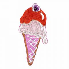 Iron-on patches Ice small pink - 5pcs