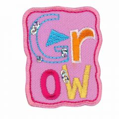 Iron-on patches GROW pink - 5pcs