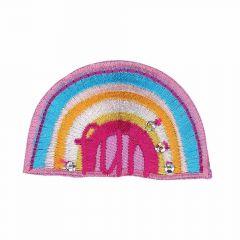 Iron-on patches Rainbow pink - 5pcs