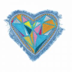 Iron-on patches heart op jeans Orange - 5pcs
