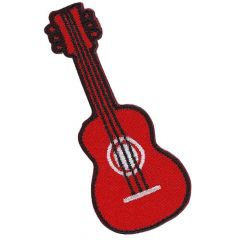 Iron-on patches Guitar red - 5pcs