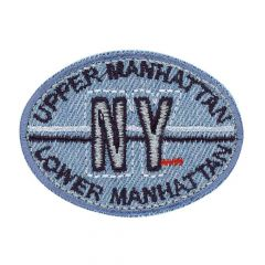 Iron-on patches Manhattan NY jeans - 5pcs