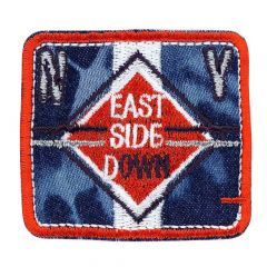 Iron-on patches EAST SIDE DOWN red-jeans - 5pcs