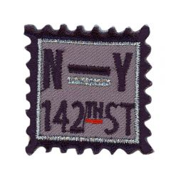 Iron-on patches square N-Y 143TH ST - 5pcs