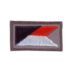 Iron-on patches Rectangle small with symbol red - 5pcs