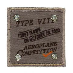Iron-on patches Aeroplane Competition grey - 5pcs