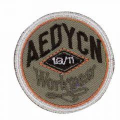 Iron-on patches circle Aedycn Orange-grey - 5pcs