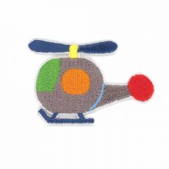 Iron-on patches Helicopter grey - 5pcs