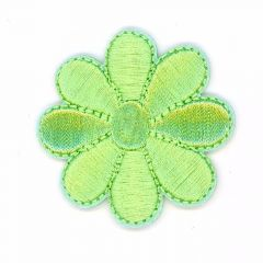 Iron-on patches Flower different colors - 5 pcs