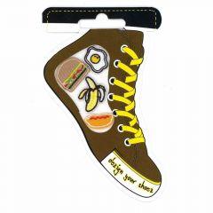 HKM Iron-on shoe patch brown - 5pcs