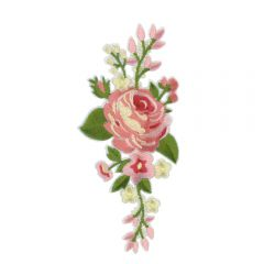 Iron-on Patches Rose - 5 pcs