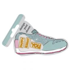HKM Iron-on shoe patch blue - 5pcs