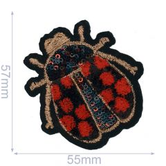 HKM Iron-on patch beetle - 5pcs