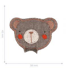 HKM Iron-on patch teddy bear - 5pcs
