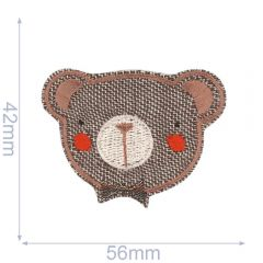 HKM Iron-on patch teddy bear - 5pcs