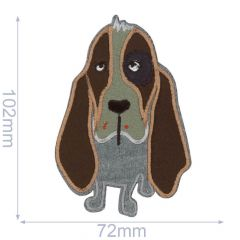 HKM Iron-on patch dog - 5pcs