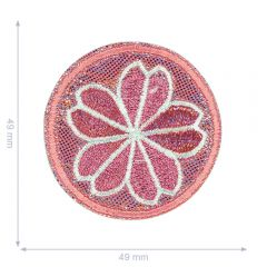 HKM Iron-on patch flowers in circle - 5pcs