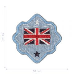 HKM Iron-on patch Australian flag button - 5pcs