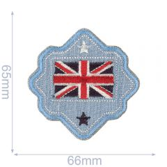 HKM Iron-on patch Australian flag button - 5pcs
