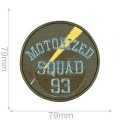 HKM Iron-on patch motorized squad 93 - 5pcs