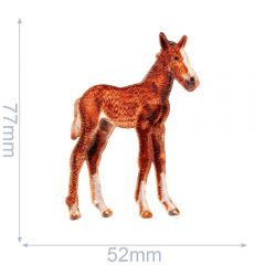 HKM Iron-on patch horse - 5pcs