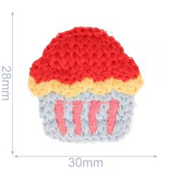 Patch knitted cupcake 30x28m - 5pcs