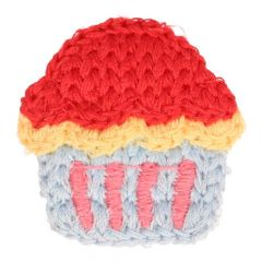 Patches Knitted Cupcake small - 5pcs